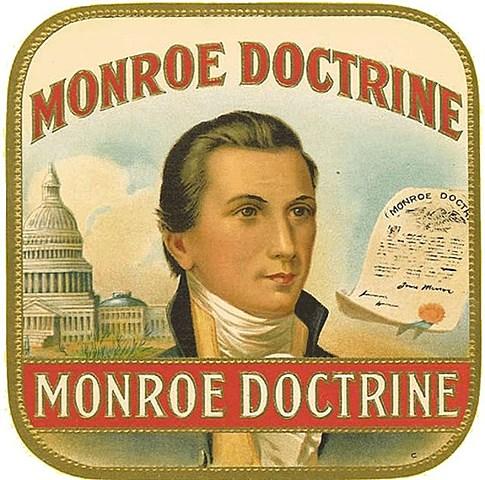 """Aparce la doctrina Monroe """"America para los Americanos"""""""