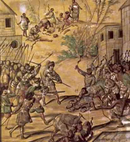Spanish defeat Astecs