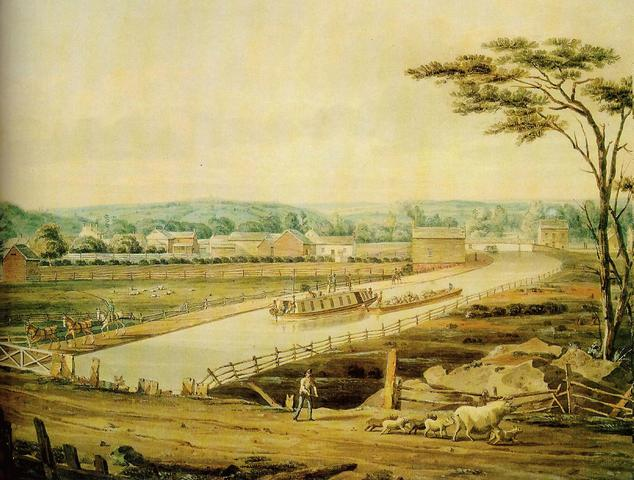 Completion of Erie Canal