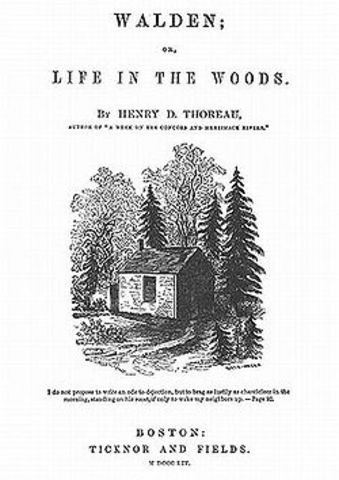 Walden (Life in the Woods) is Published