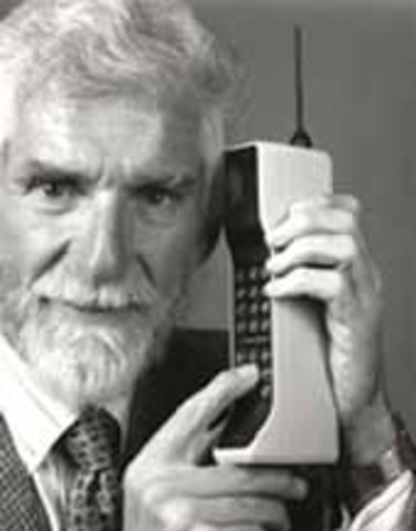 First portable cell phone call