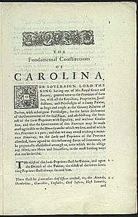 La singular constitución de Carolina.