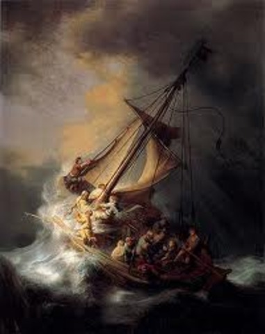 The storm of the sea of Galilee