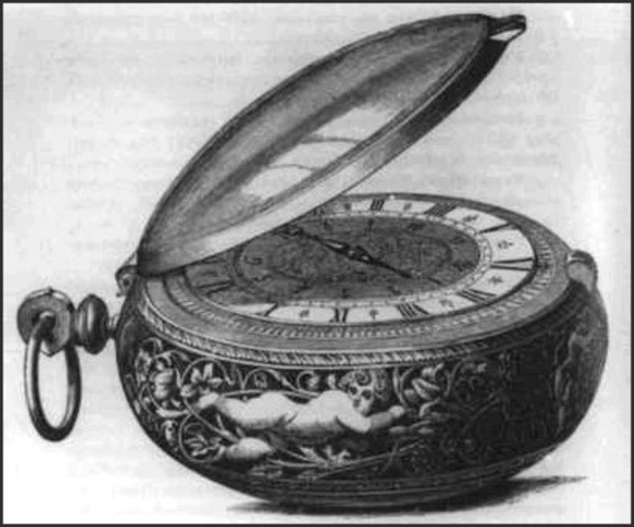 The portable clock was invented