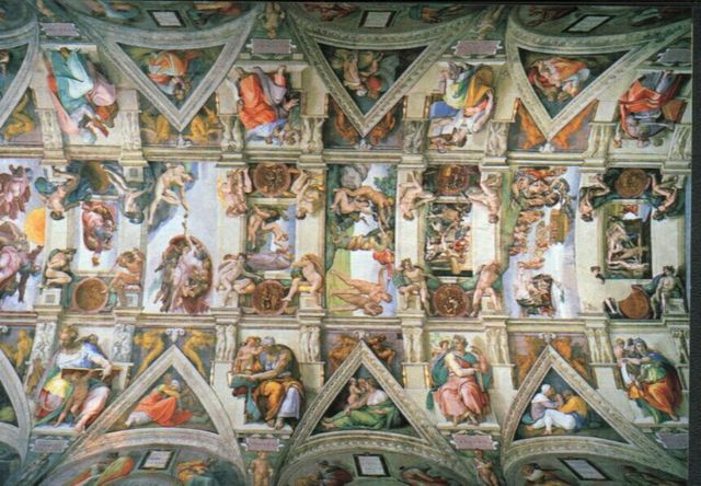 The Sistine Chapel ceiling is completed