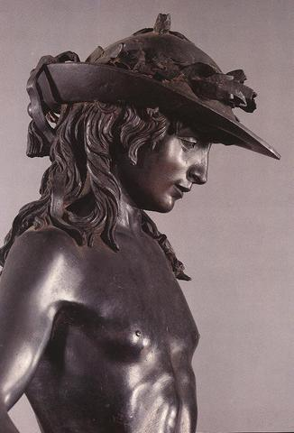 The sculpture David is completed