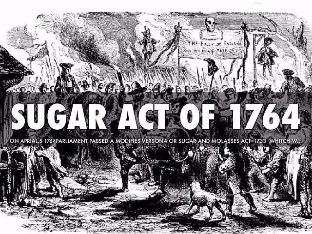 Sugar Act & colonist respose