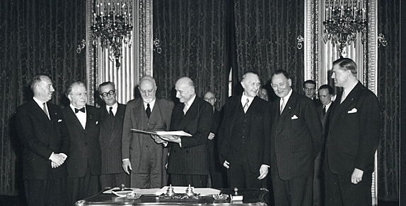 Italy is one of the six signing countries of ECSC