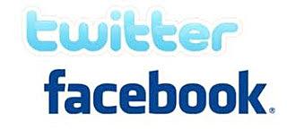 Twitter y Facebook.