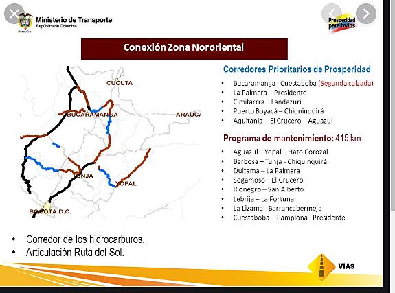 Programa Corredores por la Prosperidad en Colombia