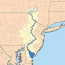 Delaware River into Pennsylvania