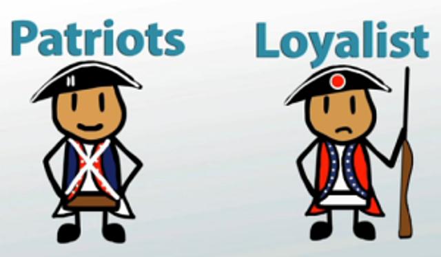 Loyalist and Patriots