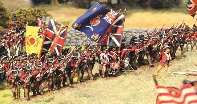 Redcoats push Washington