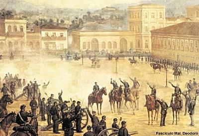 1889 - Marechal Deodoro assume o governo de modo provisório (Republica da Espada, ate 1894)