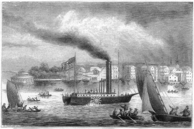 "Robert Fulton ""father of steam navigation"""