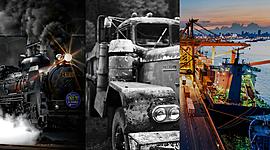 Evolución de la logística (por Germán Pérez) timeline