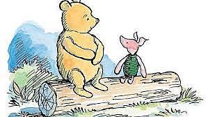 Pooh, Piglet, Eeyore-in A.A. Milne's Winnie-the-Pooh