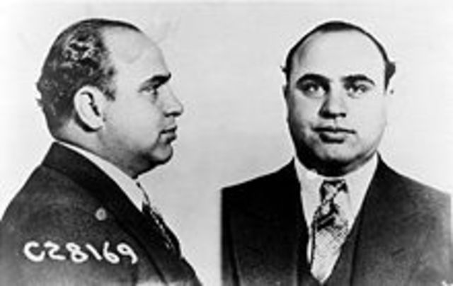 Capone indicted for income tax evasion