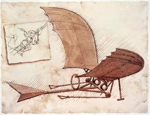 Leonardo tryed hi flying machines.