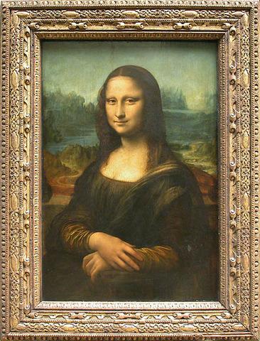 Painting La Gioconda or Mona Lisa