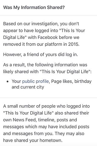 Los usuarios afectados por la violación de datos son notificados por Facebook.