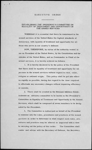 Truman Executive Orders, 1948