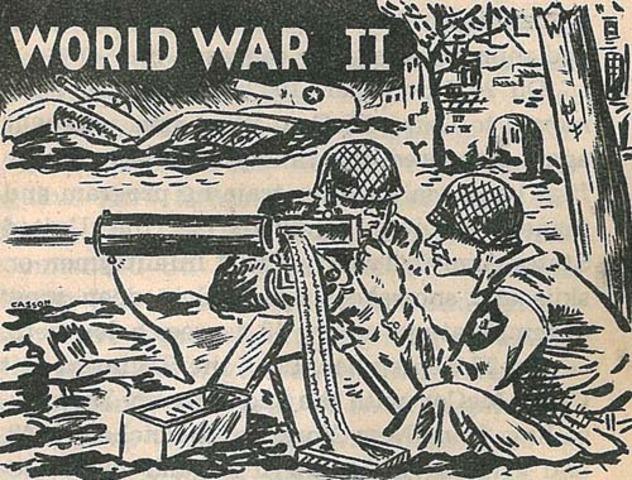 WWII begins (war declared on Gurrmany)