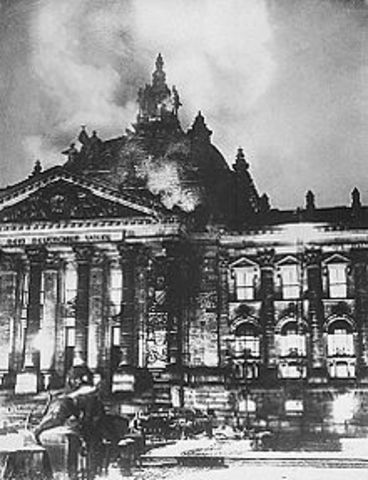The Reichstag building is burned down