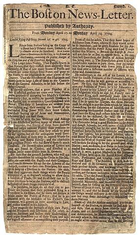 Primer anuncio impreso
