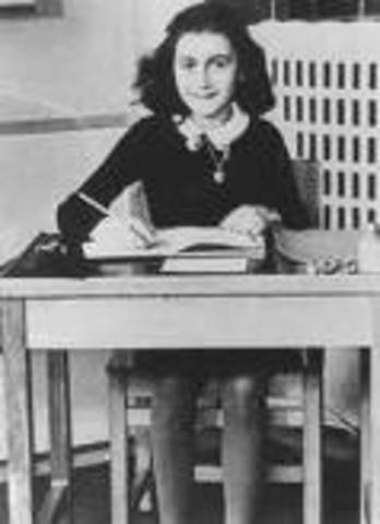 Anne Frank goes hiding