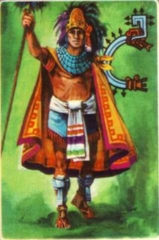 Tenochtitlán's fourth king, Itzcoatl, reigns