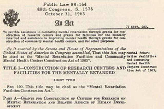 Community Mental Health Act - Public Law 88-164