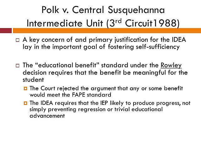 Polk. v. Central Susquehanna Intermediate Unit 16