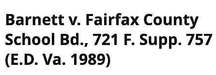 Barnett v. Fairfax County Board of Education