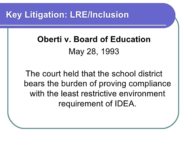 Oberti v. Board of Education of the Borough of Clementon School District