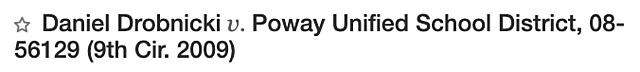Drobnicki v. Poway United School District