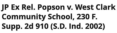 J.P. v. West Clark Community Schools