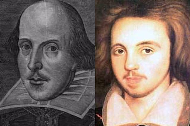 Marlowe and Shakespeare.