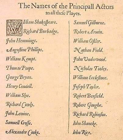 List of the King's Men.