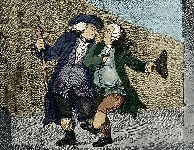 James Boswell meets Samuel Johnson.