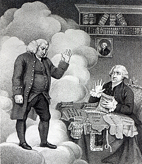 Samuel Johnson and James Boswell.