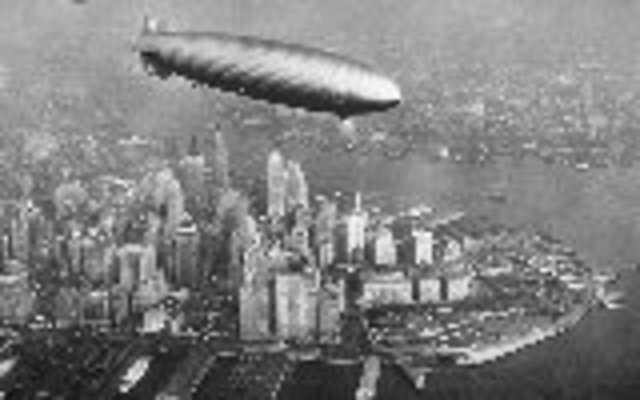 Hindenburg flies first scheduled North Atlantic air service, between Germany and US.