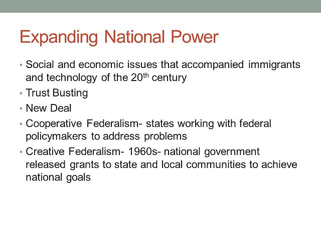 Expanding National Power