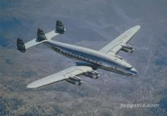 TWA begins first pressurized airliner scheduled transatlantic service.