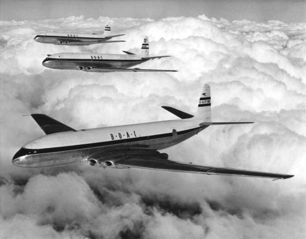 BOAC Comet first with jet service