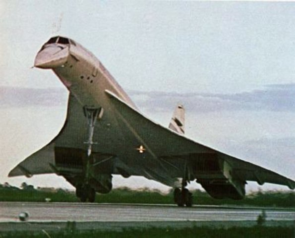 Concorde SST supersonic transport