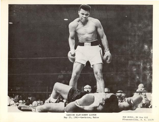 "Cassius Clay Defeats the ""Unbeatable"" Sonny Liston"