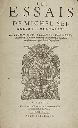 Montaigne - Les Essais