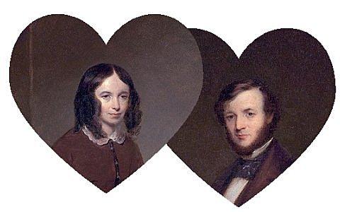 Robert Browning and Elizabeth Barrett.