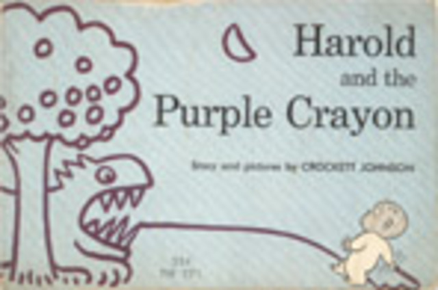 """Cognitive Event/Reading small books. My favorite was """"Harold and the Purple Crayon""""."""